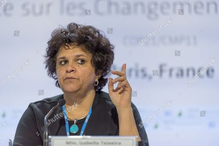 Stock Photo of Brazilian Environment Minister Izabella Teixeira delivers a speech