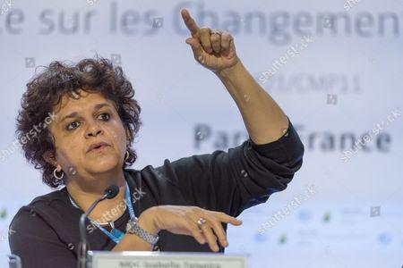 Brazilian Environment Minister Izabella Teixeira delivers a speech