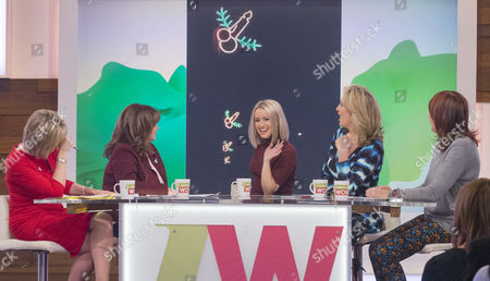 Stock Photo of Ruth Langsford, Coleen Nolan, Sammy Winward, Penny Lancaster and Janet Street-Porter