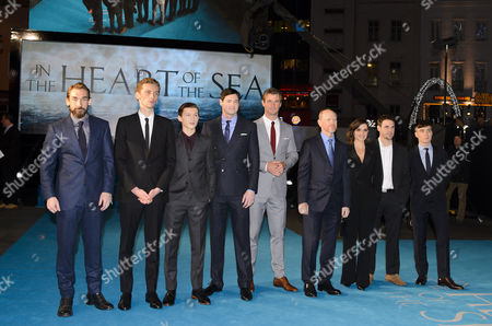 Stock Picture of Joseph Mawle, Edward Ashley, Tom Holland, Ben Walker, Chris Hemsworth, Ron Howard, Charlotte Riley, James Sives and Cillian Murphy