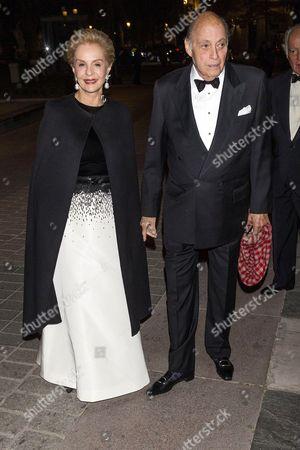 Stock Photo of Carolina Herrera and Reinaldo Herrera