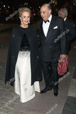 Stock Image of Carolina Herrera and Reinaldo Herrera