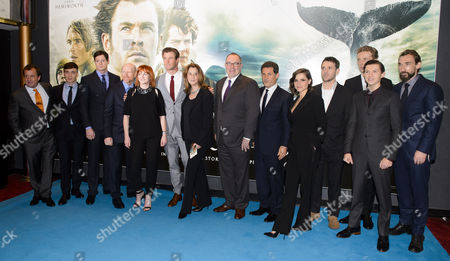 Stock Photo of Joseph Mawle, Edward Ashley, Tom Holland, Ben Walker, Chris Hemsworth, Ron Howard, Charlotte Riley, James Sives and Cillian Murphy
