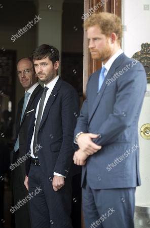 Ed Lane Fox, Jason Knauf and Prince Harry