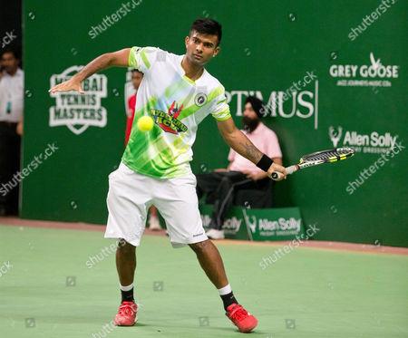 Hyderabad Aces player, Jeevan Nedunchezhiyan (IND)