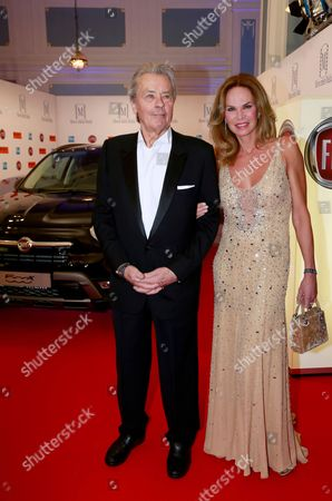 Alain Delon and Rosalie van Breemen