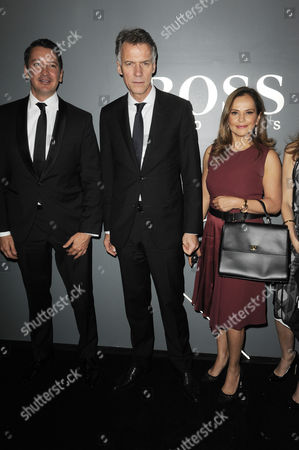 Stock Picture of Claus-Dietrich Lahrs CEO of Hugo Boss with guests