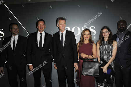 Claus-Dietrich Lahrs CEO of Hugo Boss with guests