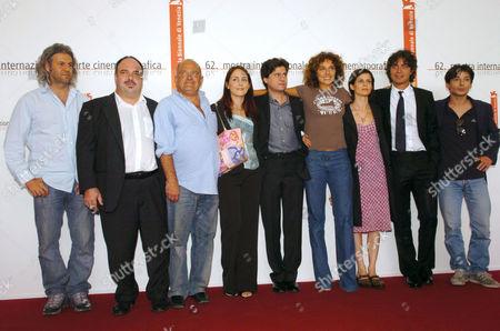 Stock Picture of Fausto Paravidino, Valeria Golino, Riccardo Scamarcio, Valerio Binasco, Alessia Bellotto, Iris Fusetti, Carlo Orlando, and Domenico Procacci