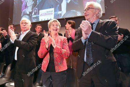 Francois Patriat, Marie-Guite Dufay and Francois Rebsamen.