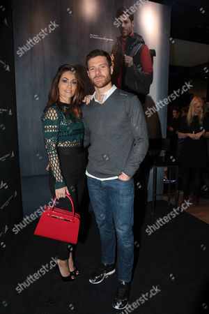 Xabi Alonso and wife Nagore Aranburu