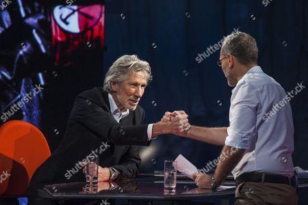Roger Waters and Corrado Formigli