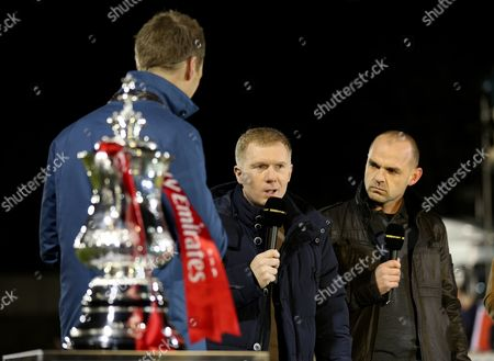 Salford City owner Paul Scholes pundits for the BBC along with Danny Murphy