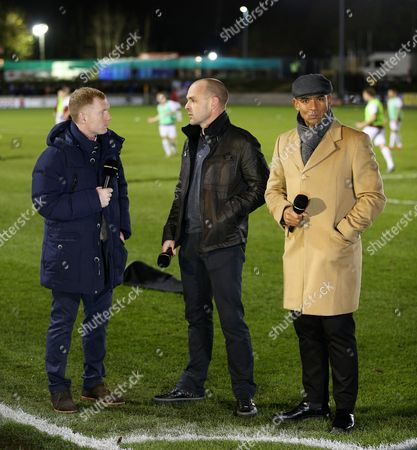 Paul Scholes, Danny Murphy and Trevor Sinclair pundit for the BBC