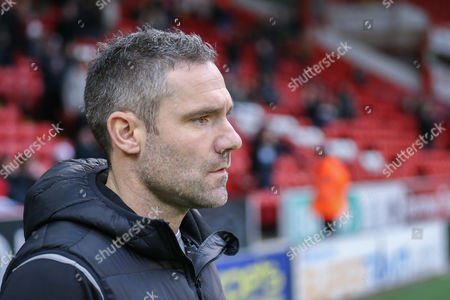 Oldham Athletic Manager David Dunn  during the The FA Cup match between Sheffield Utd and Oldham Athletic at Bramall Lane, Sheffield