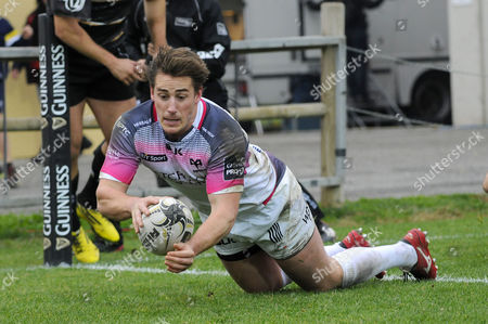 Stock Photo of Jeff Hasler scores a try