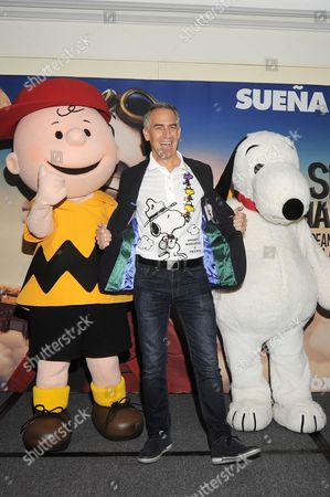 Steve Martino with Snoopy and Charlie