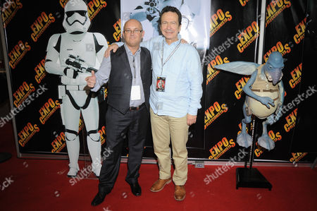 Johnny Lynch (First Order Stormtrooper) and Andy Secombe (Watto)