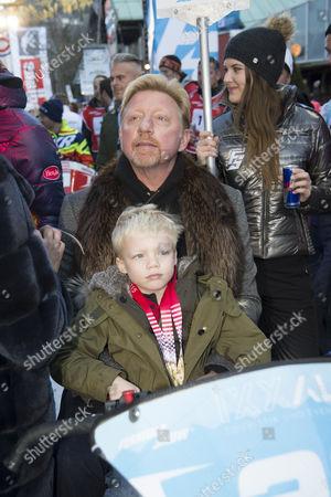 Boris Becker and son Amadeus Benedict Edley Luis