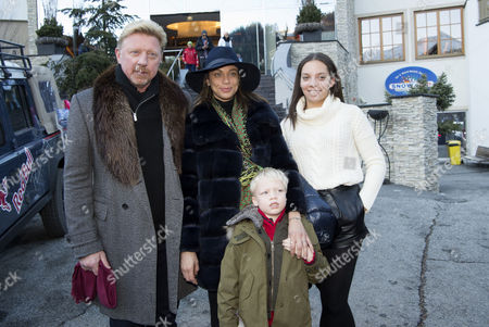 Stock Photo of Boris Becker, Sharlely Lilly Kerssenberg, guest and son Amadeus Benedict Edley Luis