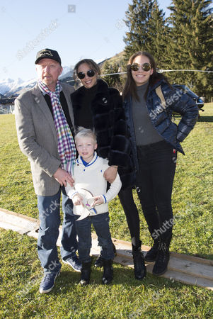 Boris Becker, Sharlely Lilly Kerssenberg, guest and son Amadeus Benedict Edley Luis
