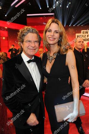 Stock Picture of Florian Langenscheidt and wife Miriam Langenscheidt-Friedrich