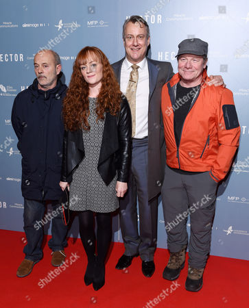 Stock Image of Keith Allen, Natalie Gavin, Stephen Tompkinson and Peter Mullan