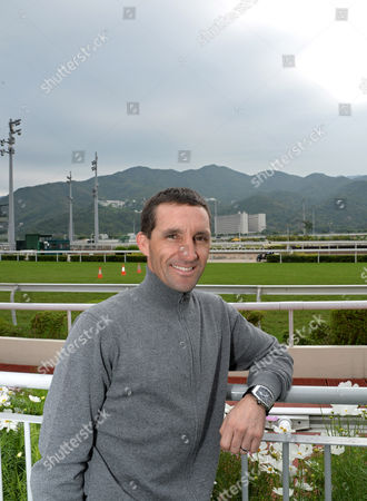 Neil Callan, jockey, who now lives and rides in Hong Kong, pictured after gallops at Sha Tin Racecourse