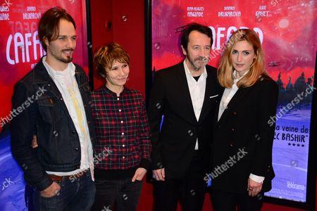 Maarten Ketels, Dinara Drukarova, Jean-Hugues Anglade and Julie Gayet