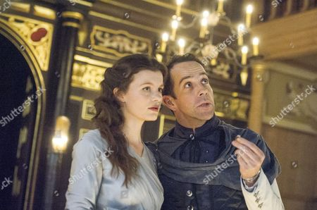 Emily Barber as Innogen, Jonjo O'Neill as Posthumus
