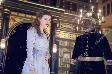 Emily Barber as Innogen, Joseph Marcell as Cymbeline
