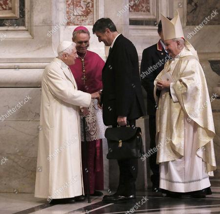 Pope emeritus Pope Benedict XVI and Georg Gaenswein