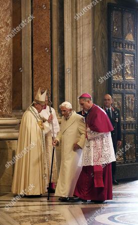 Pope emeritus Pope Benedict XVI and Pope Francis I