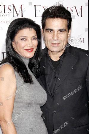 Shohreh Aghdashloo and husband Houshang Touzie