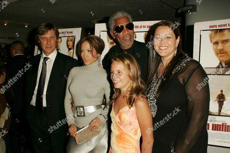 Lasse Halstrom, Jennifer Lopez, Morgan Freeman, Becca Gardner an