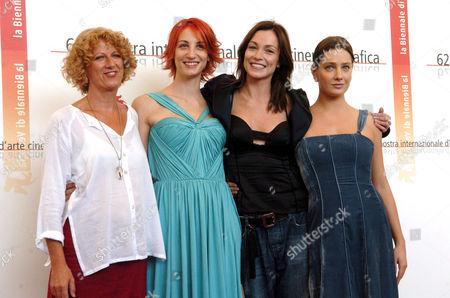 Angela Finocchiaro,Francesca Inaudi, the director Cristina Comencini, Stefania Rocca, Giovanna Mezzogiorno at the 'La bestia nel cuore' photocall