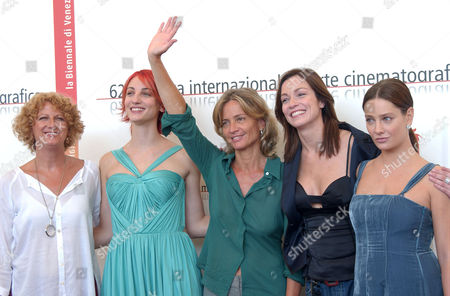 Angela Finocchiaro, Francesca Inaudi, Director Cristina Comencini, Stefania Rocca and Giovanna Mezzogiorno at the photocall for ' La Bestia Nel Cuore'