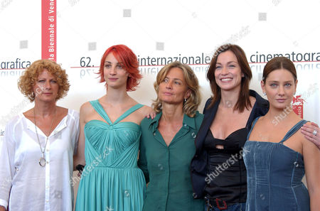 Angelica Finocchiaro, Francesca Inaudi, Director Cristina Comencini, Stefania Rocca and Giovanna Mezzogiorno at the photocall for ' La Bestia Nel Cuore'