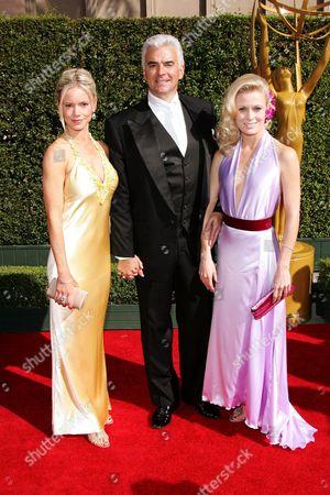 Stock Image of John O'Hurley, Wife Lisa Mesloh and Charlotte Jorgensen