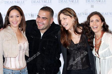 Judy Marte, Dominic Colon, Lori Silverbush with Paola Mendoza at the 'On The Outs' photocall