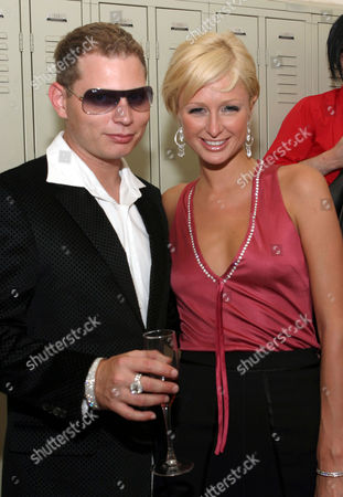 Scott Storch and Paris Hilton during the Kai Milla fashion show for the 2006 collection
