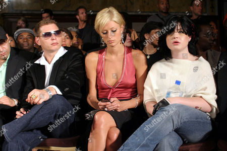 Scott Storch, Paris Hilton and Kelly Osbourne during the Kai Milla fashion show for the 2006 collection