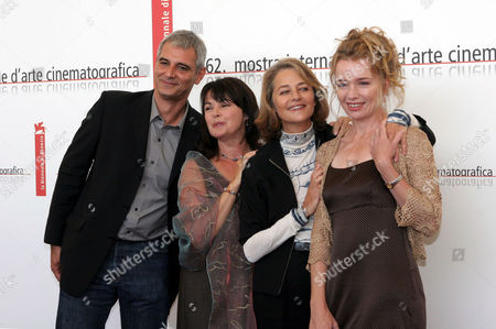 Laurent Cantet, Louise Portal, Charlotte Rampling and Karen Young at 'Vers Le Sud' film premiere