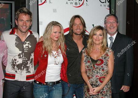 Stock Photo of Aaron Benward, Miranda Lambert, Keith Urban, Lee Ann Womack and Ed Benson