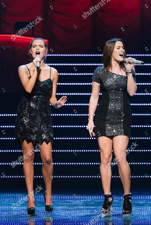 Stock Photo of Sophie Evans (L) and Lucie Jones (R)