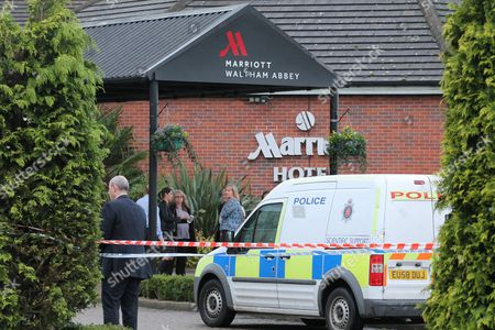 Editorial photo of Man shot dead at Marriott Hotel, Waltham Abbey, Essex, Britain - 08 Dec 2015