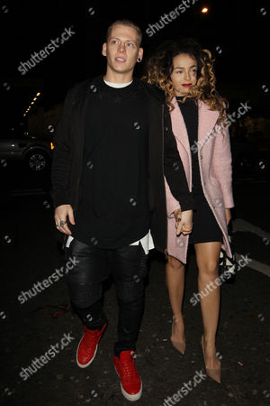 Ella Eyre and her boyfriend Lewi Morgan arriving at hotel Chantelle