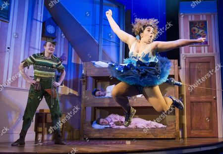 Greg Tannahill as Jonathan(Peter Pan), Nancy Wallinger as Annie (Tinkerbell)
