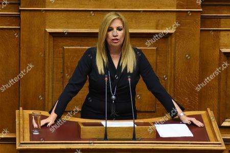 Chairwoman of PASOK, Fofi Gennimata