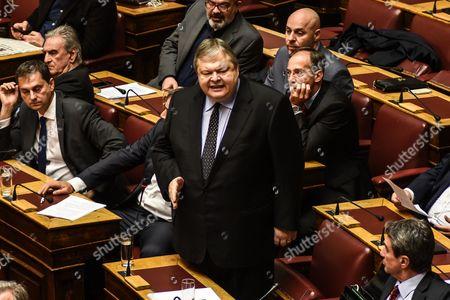 Stock Image of Evangelos Venizelos of PASOK